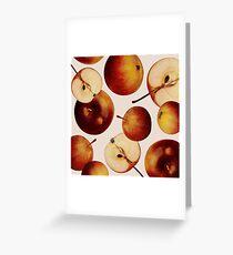 Vintage Apples Print Greeting Card
