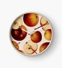 Vintage Apples Print Clock