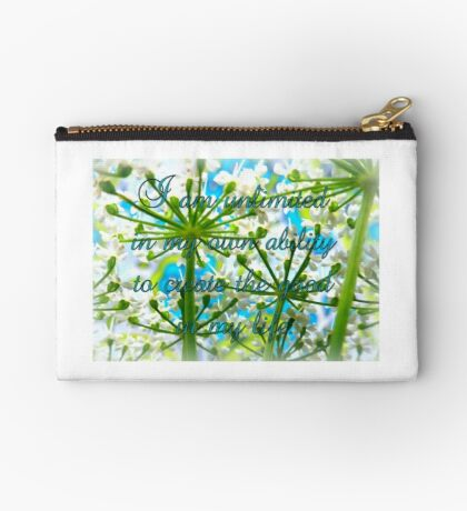 I am unlimited in my ability to create GOOD in my life Studio Pouch