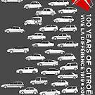 Citroen 100 Anniversary - Vive La Difference 1919-2019 Artwork by RJWautographics