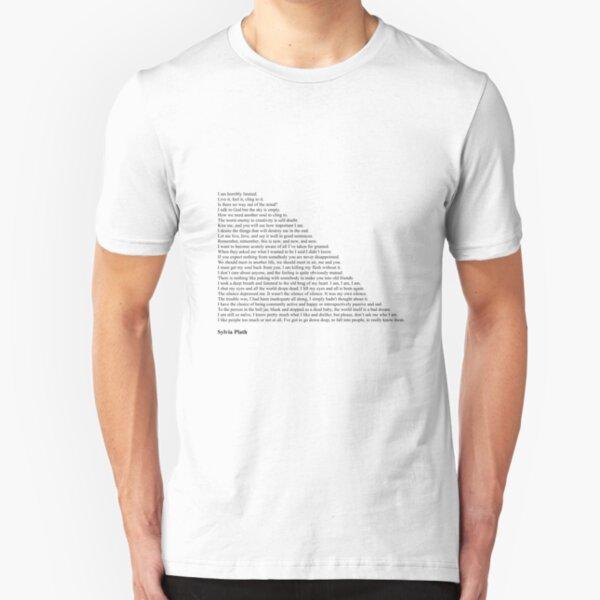 Sylvia Plath Quotes Slim Fit T-Shirt