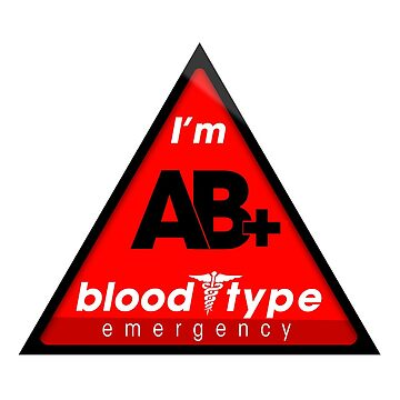 AB+ blood type information / stay safe, I suggest application to helmets by VisualAffection