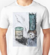 Boy and Cake – Drypoint Etching Unisex T-Shirt