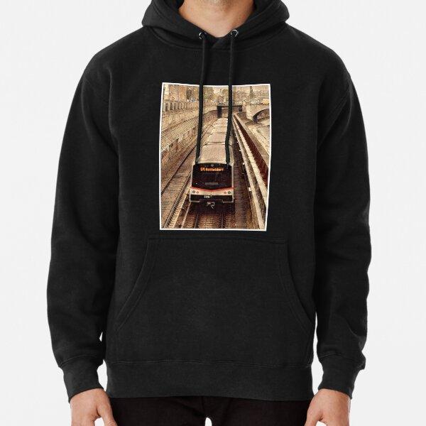 Vienna Train V3 (w. border frame) Pullover Hoodie