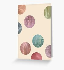 Decorative Multicolored Metallic Dots on Cream Greeting Card