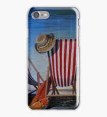 Folding Chairs Watching, Contemplating The Sunset iPhone Case/Skin