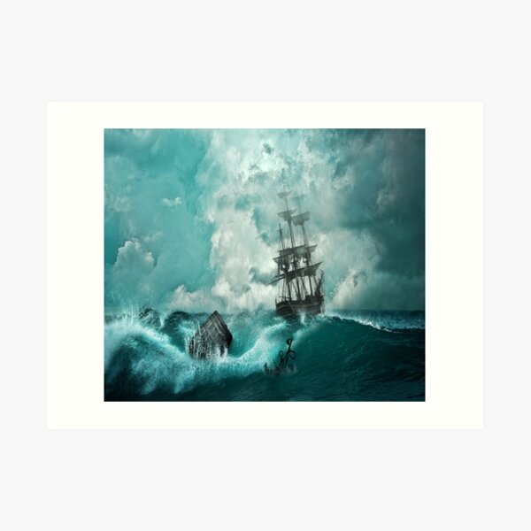 Barco pirata Lámina artística