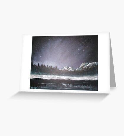 Winters Night Greeting Card