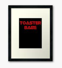 Toaster Babe Framed Print