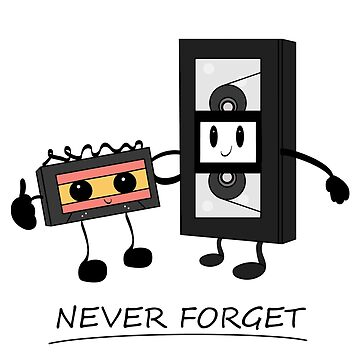 Never forget videocassette and music cassette by PM-TShirts