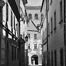 Passageways and narrow street by Lenka Vorackova
