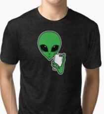 Alien Selfie Tri-blend T-Shirt