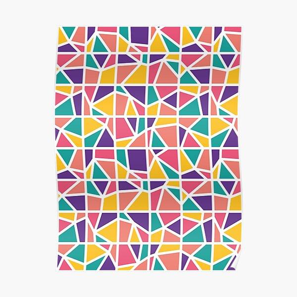 Broken Glass - Geometric Pattern (Multicolor) Poster