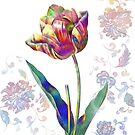 «Flor de neón acuarela» de JoAyaki