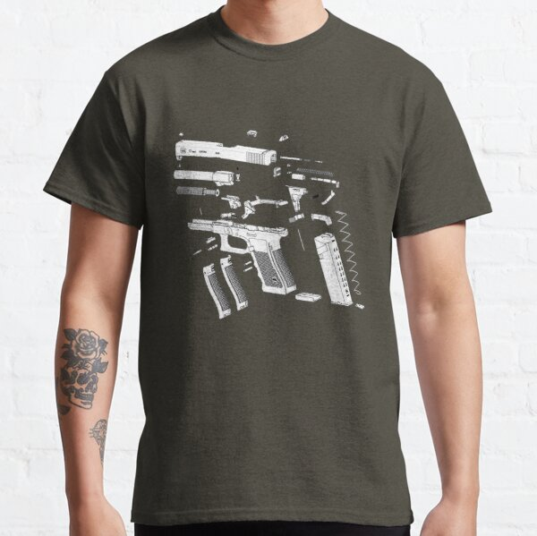 G17 Pistol Exploded View Classic T-Shirt