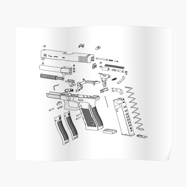 G17 Pistol Exploded View Poster
