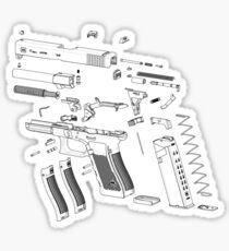 Pegatina Pistola G17 vista despiezada