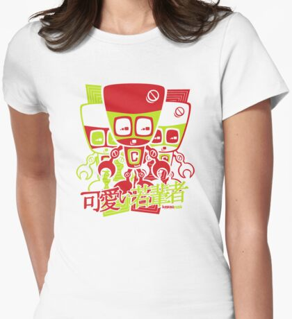 Cyborg Mascot Stencil T-Shirt