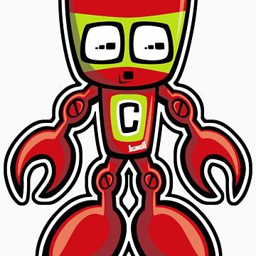 Cyborg Mascot by KawaiiPunk