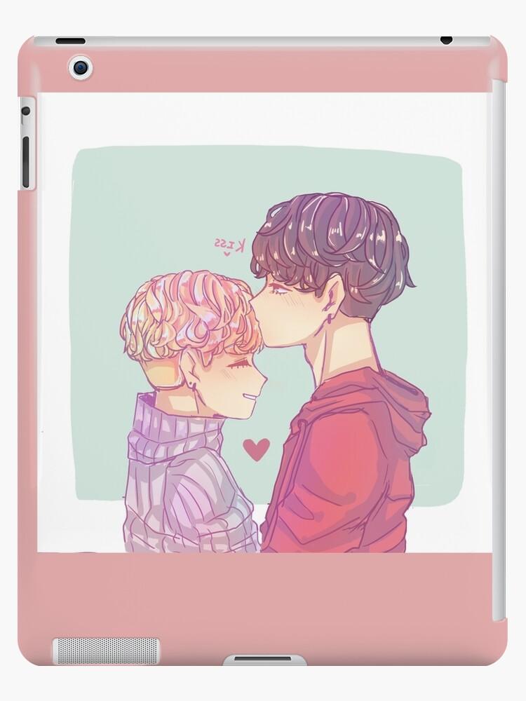 'Jikook cute kiss' iPad Case/Skin by kookiemintrash