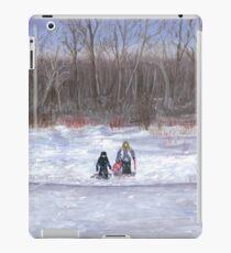 Christmas sledding in Wisconsin iPad Case/Skin