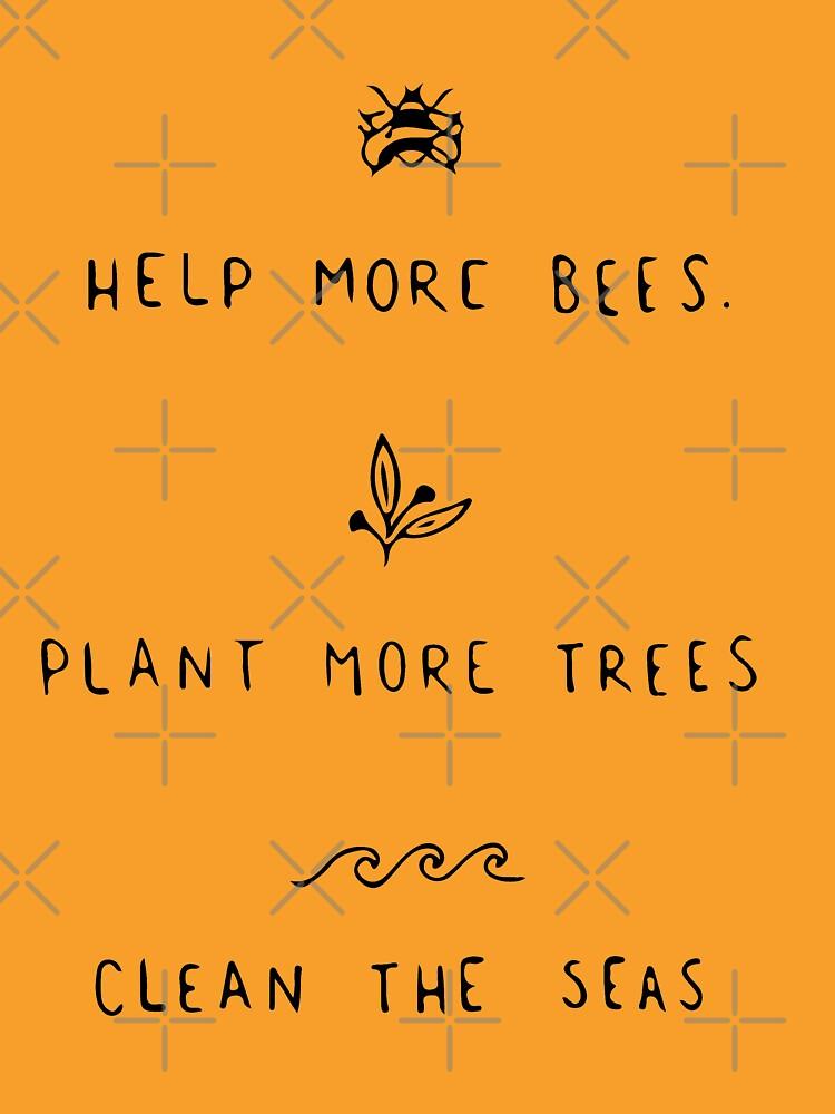 Hilf mehr Bienen, mehr Bäume zu pflanzen, um die Meere zu reinigen von monsterclub