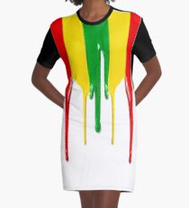 paint Graphic T-Shirt Dress