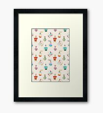 Pretty Perfumes - a pattern of vintage fragrance bottles Framed Print