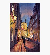 Prague Husova street Photographic Print