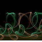 Green and Yellow Glowing Curves by MovingInColor