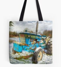 Tractor in Winter Tote Bag