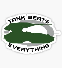 Tank Beats Everything Sticker