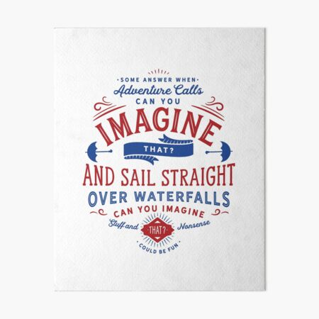 Can You Imagine That? (Mary Poppins Returns) Art Board Print