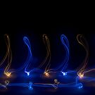 Magical Scrolling Blue and Yellow Lights by MovingInColor
