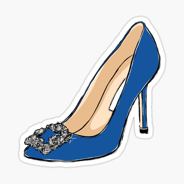 blue shoe Sticker