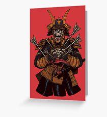 Tarjeta de felicitación Samurai muerto