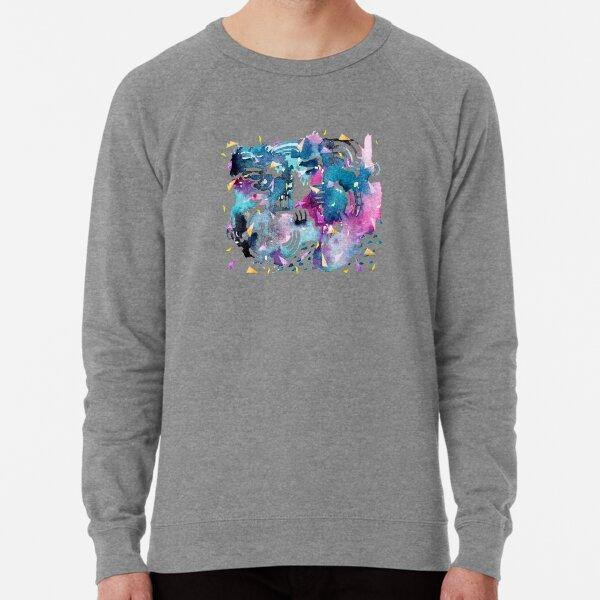 Night Sky Watercolor Pattern Lightweight Sweatshirt