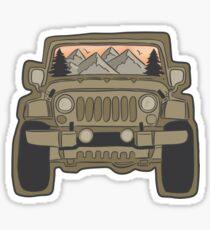 Pegatina Aventura en jeep (color completo)