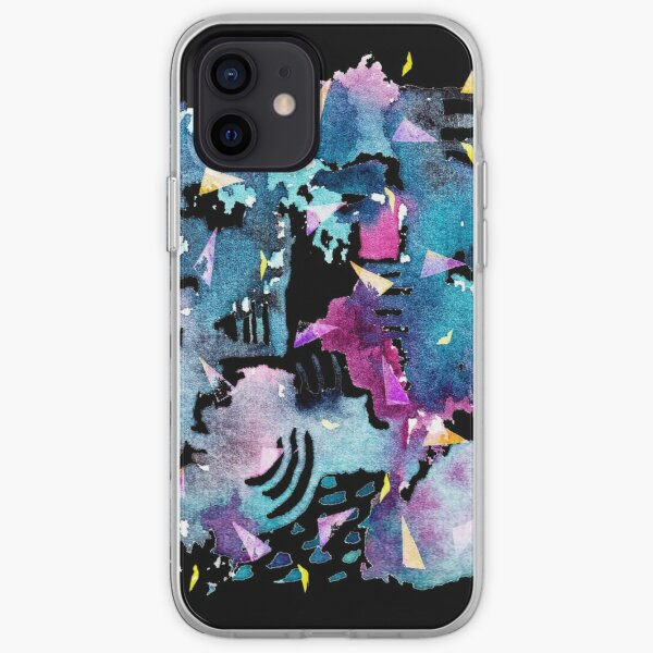 Night Sky Watercolor Pattern iPhone Soft Case