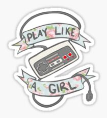 Play Like A Girl!  Sticker
