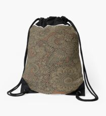 Bronze Mendhi Doodle Drawstring Bag