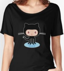 ★ Github octocat Black Relaxed Fit T-Shirt