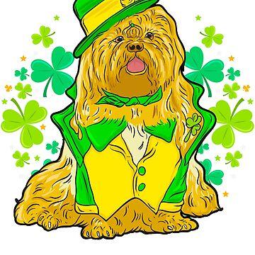 Saint Patricks Day Irish Shih Tzu by ginzburgpress