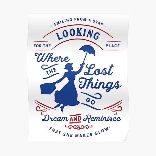 The Place Where the Lost Things Go (Mary Poppins Returns) Poster