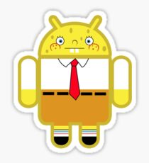 Droidarmy: Spongedroid Squarepants Sticker