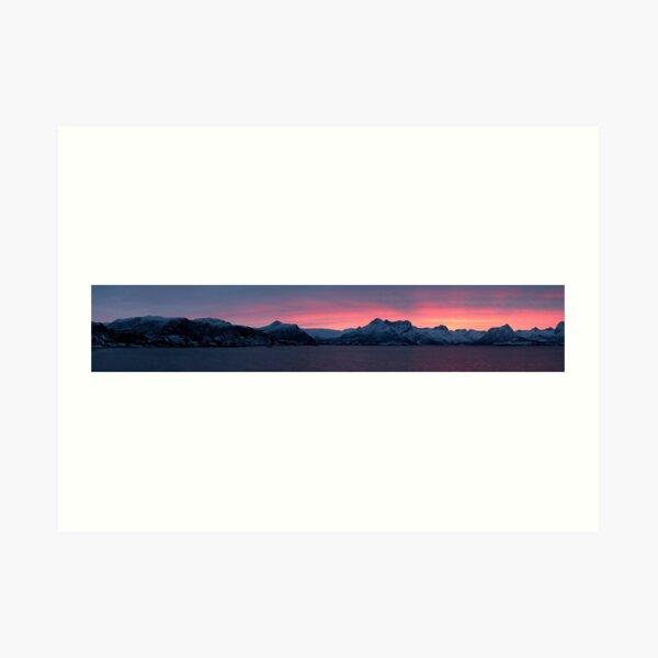 Winter glow, Nordland, Norway Art Print