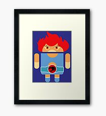 Droidarmy: Thunderdroid Lion-o no text Framed Print