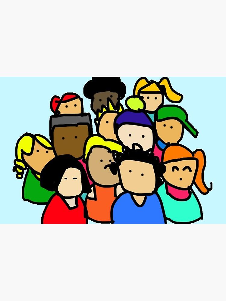 Ilustracion infantil | Dibujo amigos | Vuelta al cole de CovoStudio