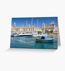 Malta: Traditional Boat Greeting Card