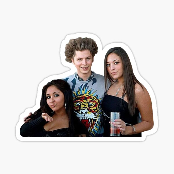 Michael Cera Jersey Shore Sticker